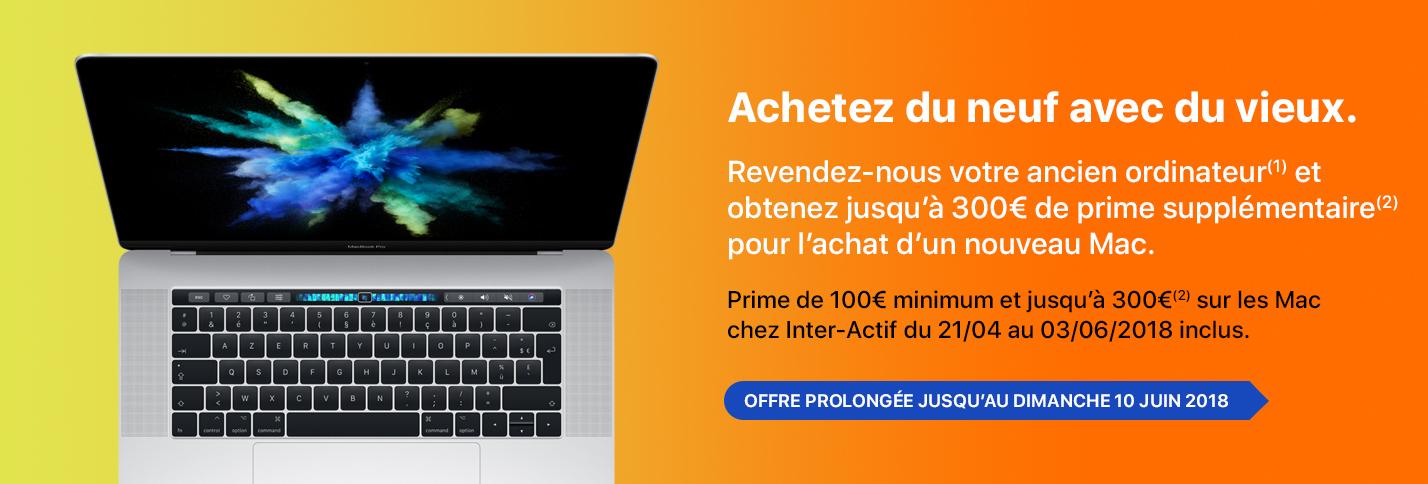Jusqu'à 300€ de prime supplémentaire sur la reprise de votre ancien ordinateur chez Inter-Actif