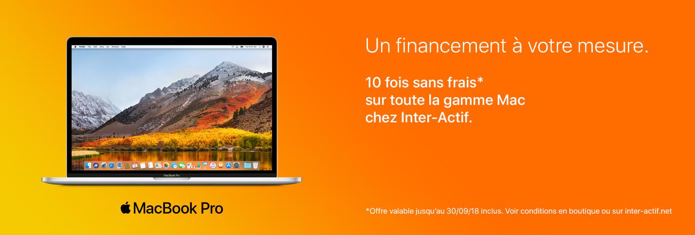 Financement sur mesure sur toute la gamme Mac
