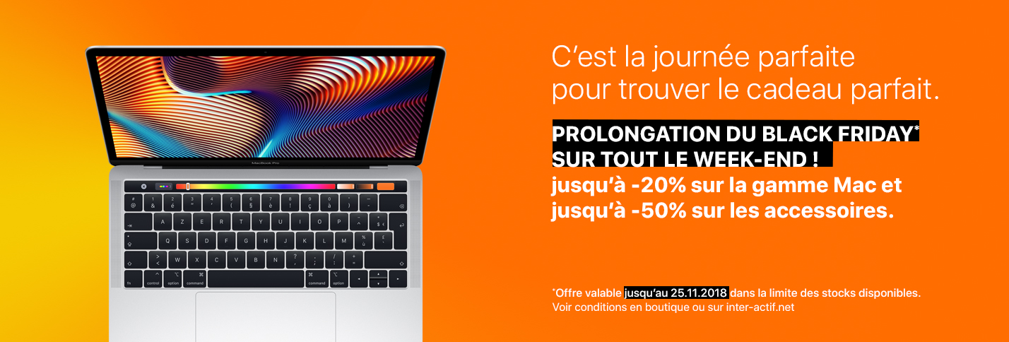 Prolongation du Black Friday Inter-Actif sur tout le week-end !