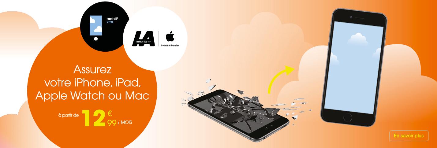 Assurez votre iPhone, iPad, Apple watch ou Mac à partir de 12,99€/mois